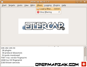 openmaniak ettercap man in the middle attack Load a filter