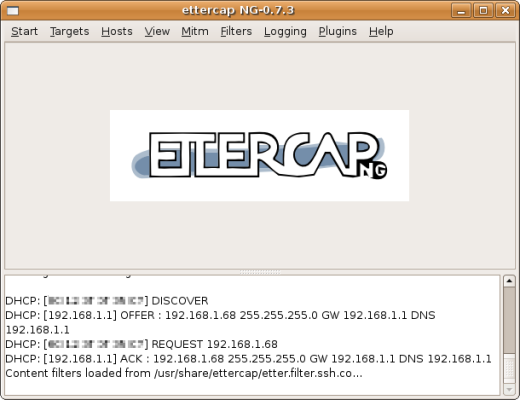 ettercap ssh downgrade filter loaded