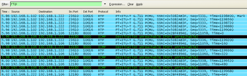 rtp protocol voip voice wireshark capture