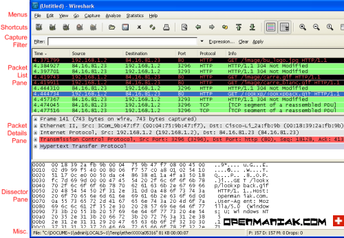 wireshark frontend