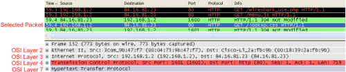 wireshark packet filter pane
