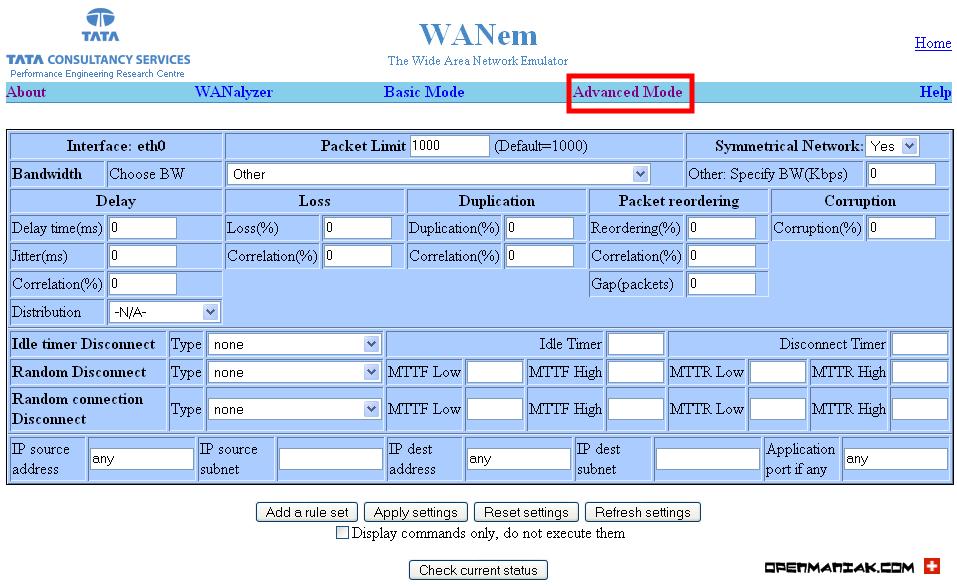 WANEM - The Easy Tutorial - Advanced mode