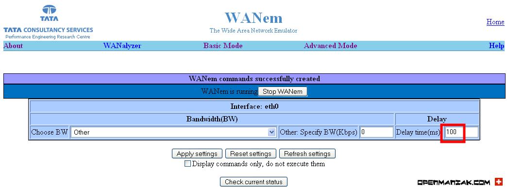 WANEM - The Easy Tutorial - Basic Mode